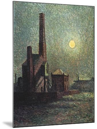 Factory by Moonlight-Maximilien Luce-Mounted Giclee Print