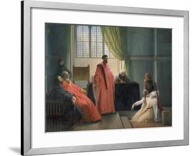 Valenza Gradenico Vor Der Hl, Inquisition-Francesco Hayez-Framed Giclee Print