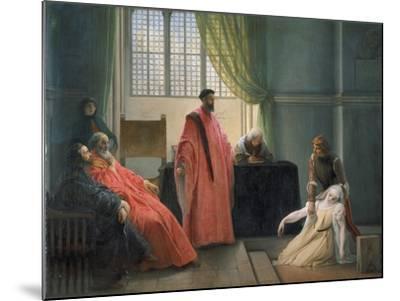Valenza Gradenico Vor Der Hl, Inquisition-Francesco Hayez-Mounted Giclee Print