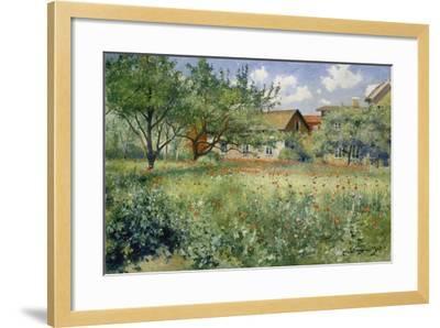 Poppy Field, 1923-Johann Eric Ericson-Framed Giclee Print