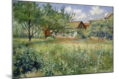 Poppy Field, 1923-Johann Eric Ericson-Mounted Giclee Print