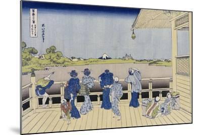 Sazai Hall of Five-Hundred-Rakanji Temple-Katsushika Hokusai-Mounted Giclee Print