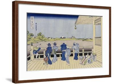 Sazai Hall of Five-Hundred-Rakanji Temple-Katsushika Hokusai-Framed Giclee Print