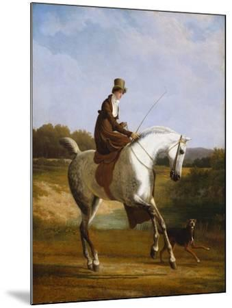Miss Cazenove on a Grey Hunter-Jacques Laurent Agasse-Mounted Giclee Print