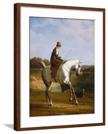 Miss Cazenove on a Grey Hunter-Jacques Laurent Agasse-Framed Giclee Print