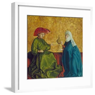 The Queen of Sheba before King Solomon, C. 1435-37-Konrad Witz-Framed Giclee Print