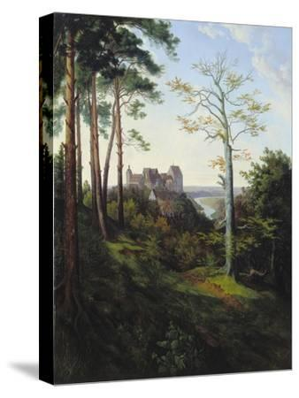 The Castle Colditz, 1828-Ernst Ferdinand Oehme-Stretched Canvas Print
