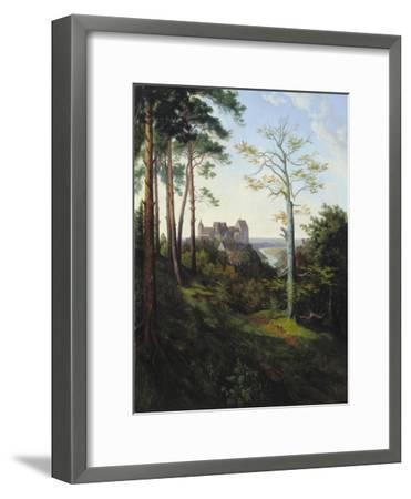 The Castle Colditz, 1828-Ernst Ferdinand Oehme-Framed Giclee Print