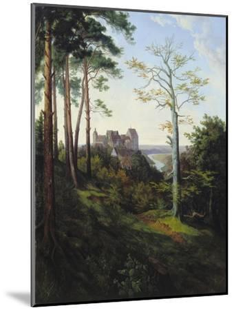 The Castle Colditz, 1828-Ernst Ferdinand Oehme-Mounted Giclee Print
