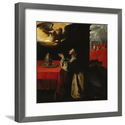 St, Bonaventura Praying, 1629-Francisco Zurbaran y Salazar-Framed Giclee Print