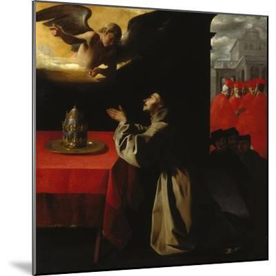 St, Bonaventura Praying, 1629-Francisco Zurbaran y Salazar-Mounted Giclee Print