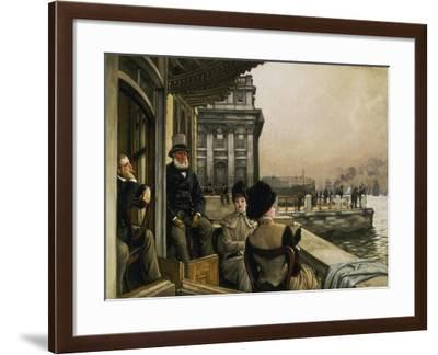 On the Terrace of the Trafalgar-Tavern in Greenwich-James Jacques Tissot-Framed Giclee Print