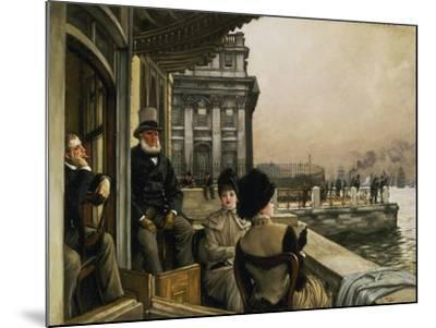 On the Terrace of the Trafalgar-Tavern in Greenwich-James Jacques Tissot-Mounted Giclee Print