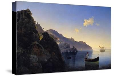 A View of the Amalfi Bay, 1841-Konstantinovich Ivan Aivazovsky-Stretched Canvas Print
