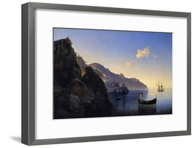 A View of the Amalfi Bay, 1841-Konstantinovich Ivan Aivazovsky-Framed Giclee Print