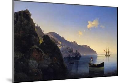 A View of the Amalfi Bay, 1841-Konstantinovich Ivan Aivazovsky-Mounted Giclee Print