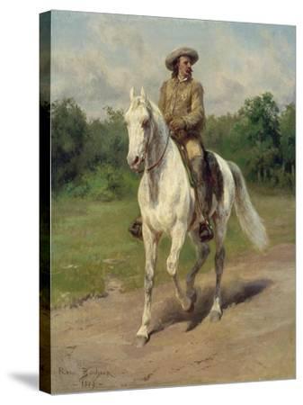 Colonel William F, Cody on Horseback, 1889-Maria-Rosa Bonheur-Stretched Canvas Print