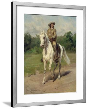 Colonel William F, Cody on Horseback, 1889-Maria-Rosa Bonheur-Framed Giclee Print