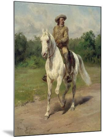 Colonel William F, Cody on Horseback, 1889-Maria-Rosa Bonheur-Mounted Giclee Print