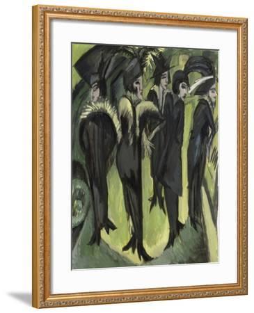 Five Women on the Street, 1913-Ernst Ludwig Kirchner-Framed Giclee Print