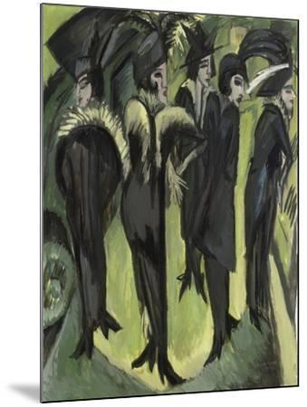 Five Women on the Street, 1913-Ernst Ludwig Kirchner-Mounted Giclee Print