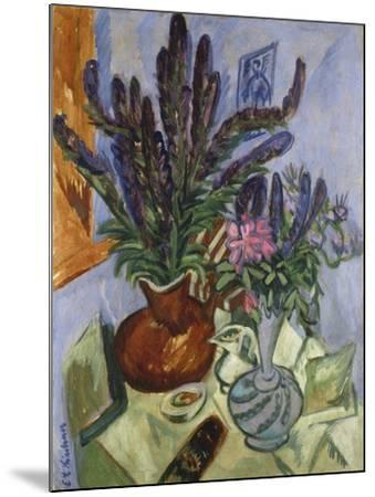 Still Life with Vase of Flowers, 1912-Ernst Ludwig Kirchner-Mounted Giclee Print