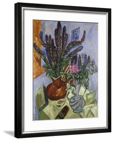 Still Life with Vase of Flowers, 1912-Ernst Ludwig Kirchner-Framed Giclee Print
