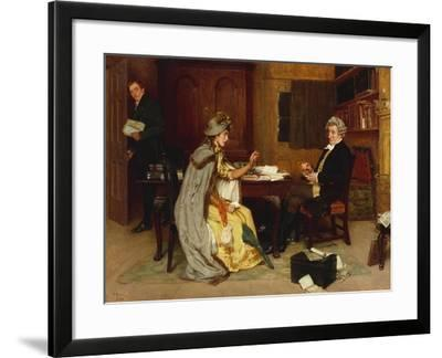 Her Lawyer, 1892-Frank Dadd-Framed Giclee Print