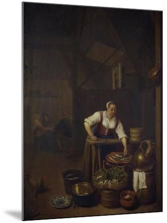 Chef Preparing Food-Hendrik Martensz Sorgh-Mounted Giclee Print