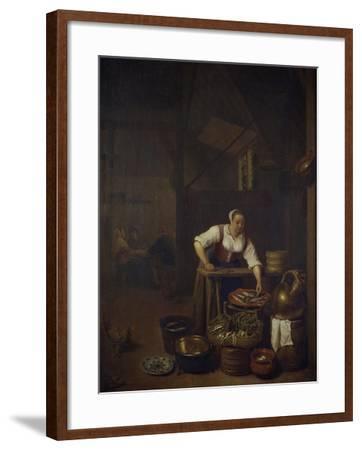 Chef Preparing Food-Hendrik Martensz Sorgh-Framed Giclee Print