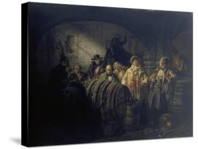 The Winetasting, 1853-Johann Peter Hasenclever-Stretched Canvas Print