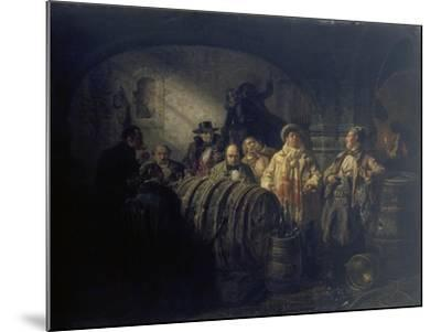 The Winetasting, 1853-Johann Peter Hasenclever-Mounted Giclee Print
