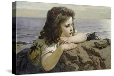 Girl with a Lizard, 1884-Ernst Stückelberg-Stretched Canvas Print