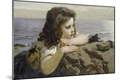 Girl with a Lizard, 1884-Ernst Stückelberg-Mounted Giclee Print