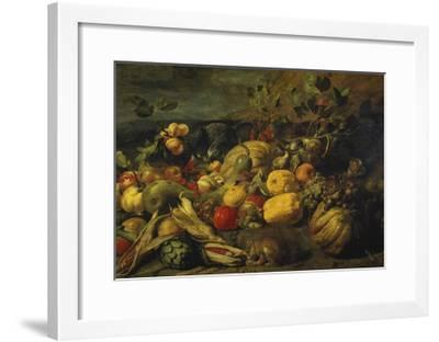 Still Life of Fruits and Vegetables, 1620s-Frans Snyders-Framed Giclee Print