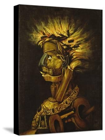 Fire-Giuseppe Arcimboldo-Stretched Canvas Print