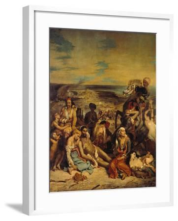 Scenes from the Massacre of Chios, 1822-Eugene Delacroix-Framed Giclee Print
