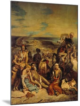 Scenes from the Massacre of Chios, 1822-Eugene Delacroix-Mounted Giclee Print