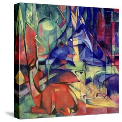 Deer in the Forest II, 1914-Franz Marc-Stretched Canvas Print