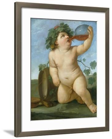 Drinking Bacchus Portrayed as a Boy, C. 1623-Guido Reni-Framed Giclee Print