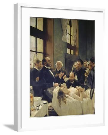Before the Operation, or Doctor Pean Teaching at Saint-Louis Hospital, 1887-Henri Gervex-Framed Giclee Print