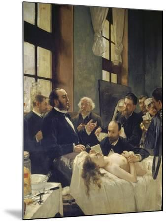 Before the Operation, or Doctor Pean Teaching at Saint-Louis Hospital, 1887-Henri Gervex-Mounted Giclee Print