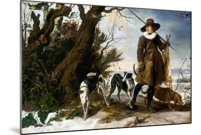 Winter Landscape with Hunter, 1624-Jan Wildens-Mounted Giclee Print