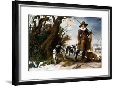 Winter Landscape with Hunter, 1624-Jan Wildens-Framed Giclee Print