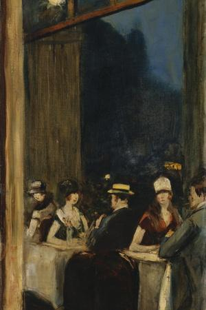 At the Cafe-Lesser Ury-Framed Giclee Print