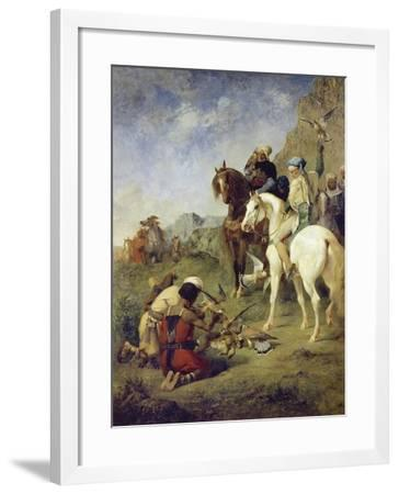 A Falcon Hunt in Algeria: the Quarry, 1863-Eugène Fromentin-Framed Giclee Print