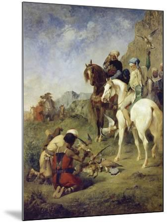 A Falcon Hunt in Algeria: the Quarry, 1863-Eugène Fromentin-Mounted Giclee Print