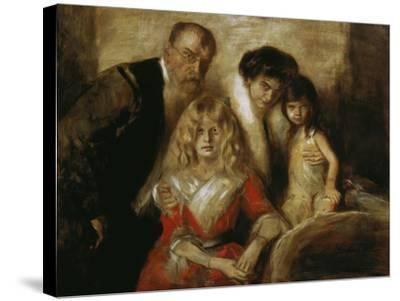 Franz Von Lenbach with Wife and Daughters-Franz Von Lenbach-Stretched Canvas Print