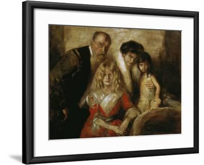 Franz Von Lenbach with Wife and Daughters-Franz Von Lenbach-Framed Giclee Print
