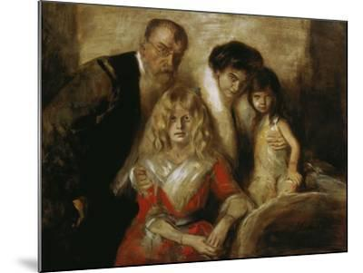 Franz Von Lenbach with Wife and Daughters-Franz Von Lenbach-Mounted Giclee Print
